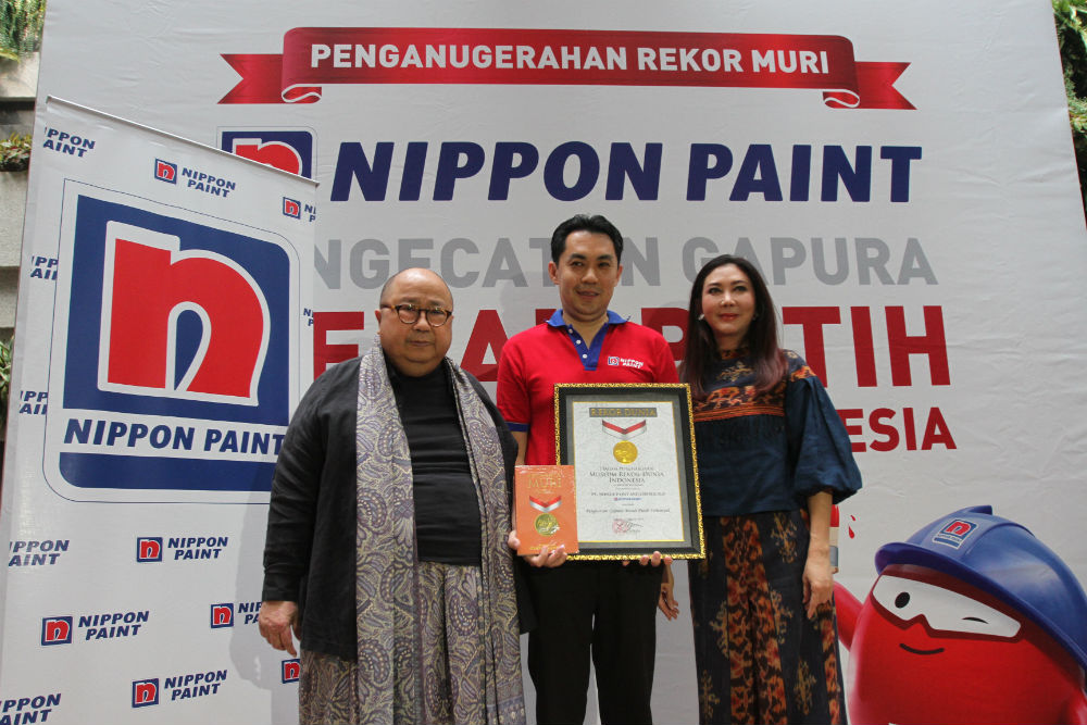 nippon paint, rekor muri