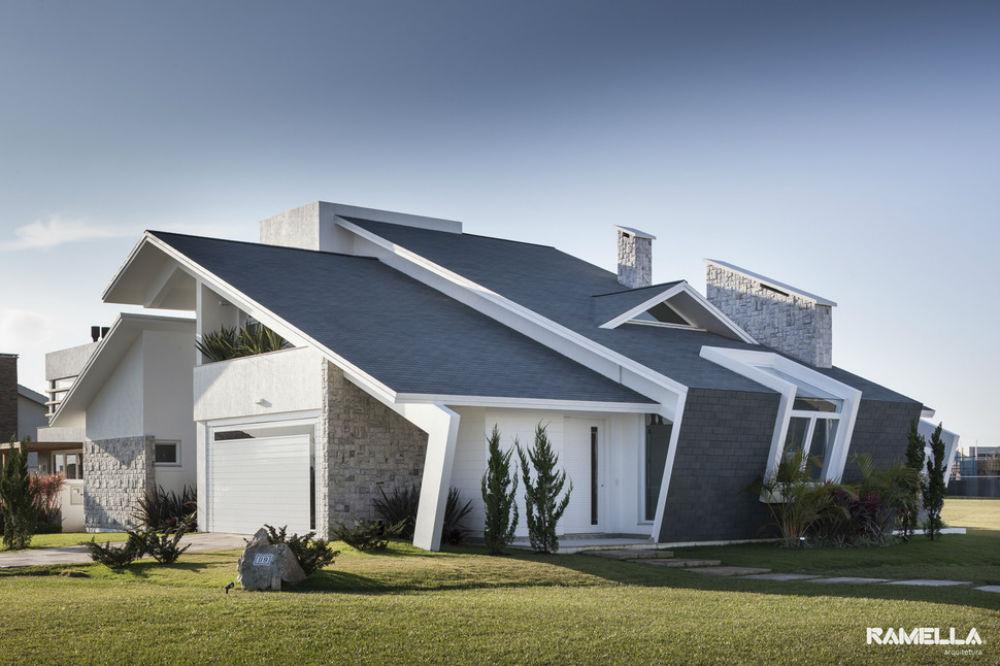Desain Rumah Modern Beratap Miring Athome