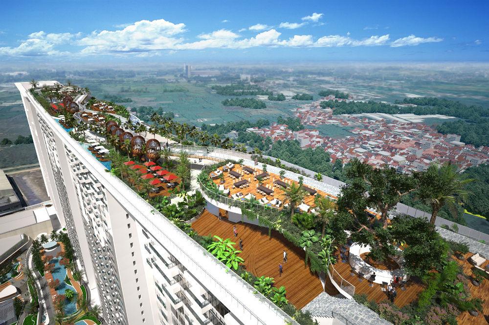 Dengan view pegunungan menjadi daya tarik tersendiri apartemen Opus Park Sentul City
